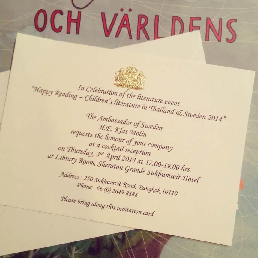 The invitation card