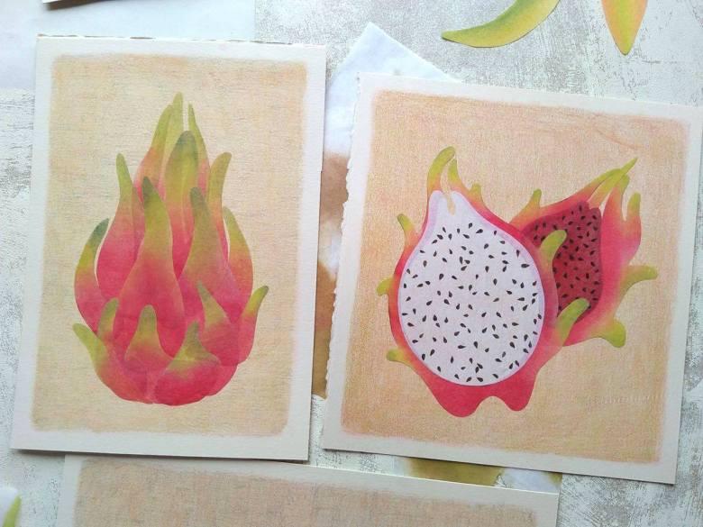 tropical fruits illustration_Yodchat Bupasiri_ยอดฉัตร บุพศิริ19