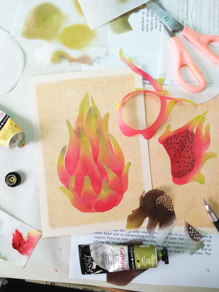 tropical fruits illustration_Yodchat Bupasiri_ยอดฉัตร บุพศิริ2