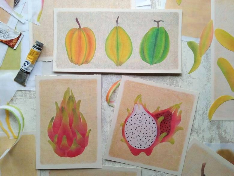 tropical fruits illustration_Yodchat Bupasiri_ยอดฉัตร บุพศิริ24