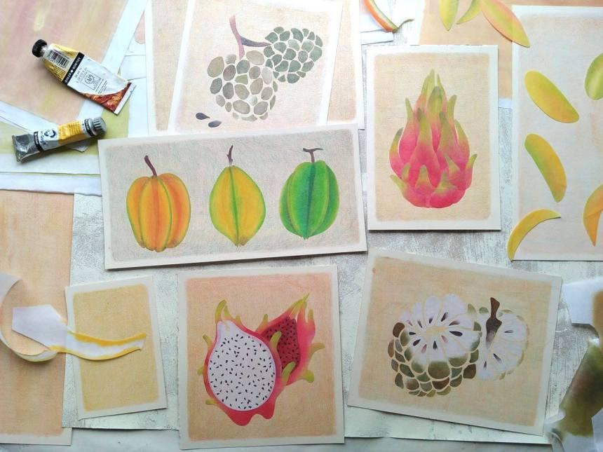 tropical fruits illustration_Yodchat Bupasiri_ยอดฉัตร บุพศิริ26